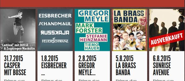 KSK Music Open 2015 – Line Up jetzt komplett!
