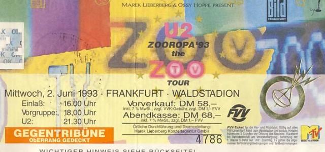 U2 – 02.06.1993 – Frankfurt – Waldstadion