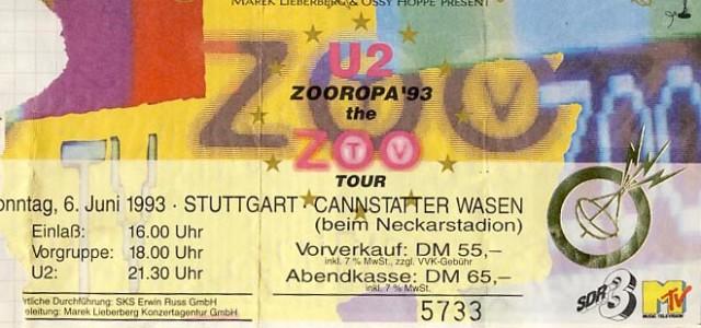 U2 – 06.06.1993 – Stuttgart – Cannstatter Wasen