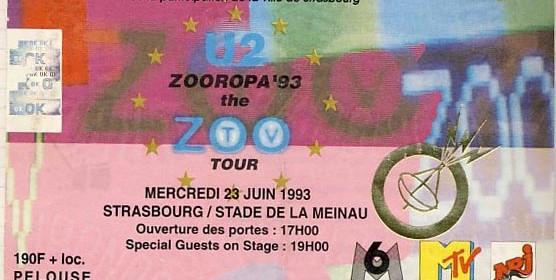 U2 – 23.06.1993 – Strasbourg – Stade de La Meinau
