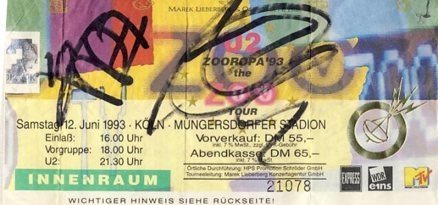 U2 – 12.06.1993 – Köln – Müngersdorfer Stadion
