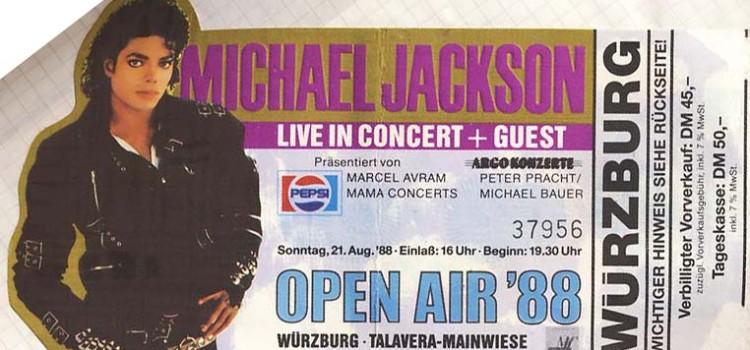 Michael Jackson – 21.08.1988 – Würzburg – Talavera-Mainwiese