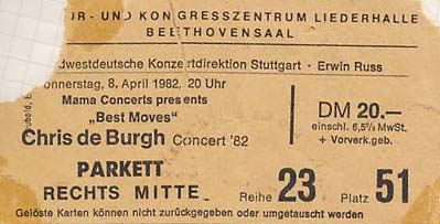 chrisdeburgh1982ticket