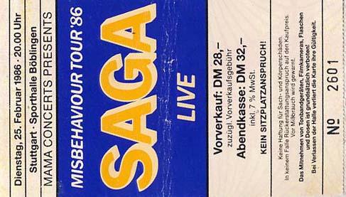 Saga – 25.02.1986 – Böblingen – Sporthalle