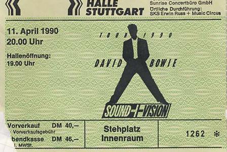 David Bowie – 11.04.1990 – Stuttgart – Schleyerhalle