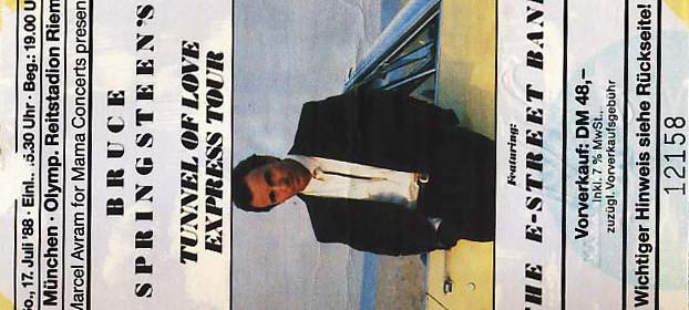 Bruce Springsteen – 17.07.1988 – München – Reitstadtion Riem