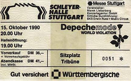 Depeche Mode // 15.10.1990 // Stuttgart // Schleyerhalle