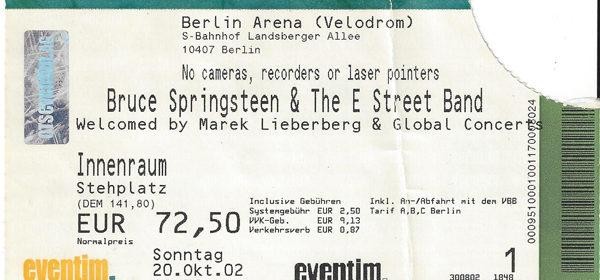 Bruce Springsteen – 20.10.2002 – Berlin – Velodrom
