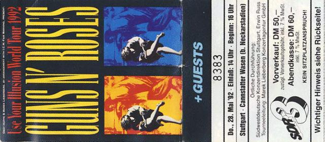 Guns N' Roses // 28.05.1992 // Stuttgart // Cannstatter Wasen // Konzertbericht