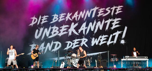 SDP auf dem BW-Bank Kulturwasen. Die bekannteste unbekannte Band zündet ein Feuerwerk….auch an Wortspielen.