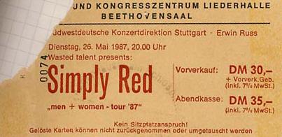 Simply Red – 26.05.1987 – Stuttgart – Liederhalle – Beethovensaal