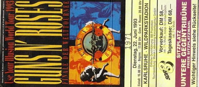 Guns N' Roses – 22.06.1993 – Karlsruhe – Wildparkstadion
