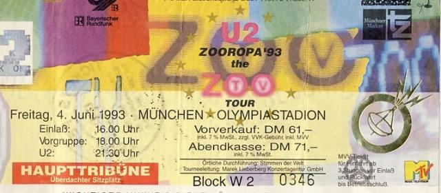 U2 – 04.06.1993 – München – Olympiastadion