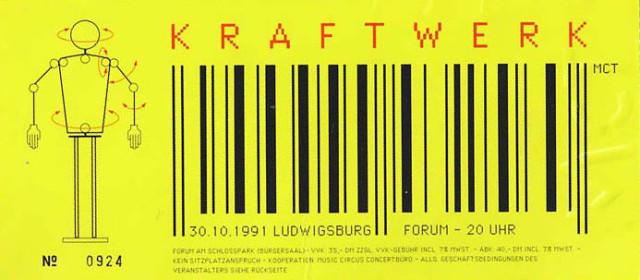 Kraftwerk – 30.10.1991 – Ludwigsburg – Forum