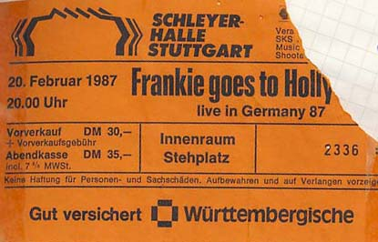Frankie goes to Hollywood – 20.02.1987 – Stuttgart – Schleyerhalle