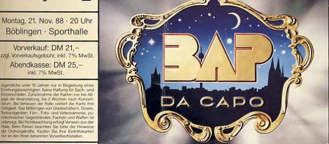 BAP – 21.11.1988 – Böblingen – Sporthalle