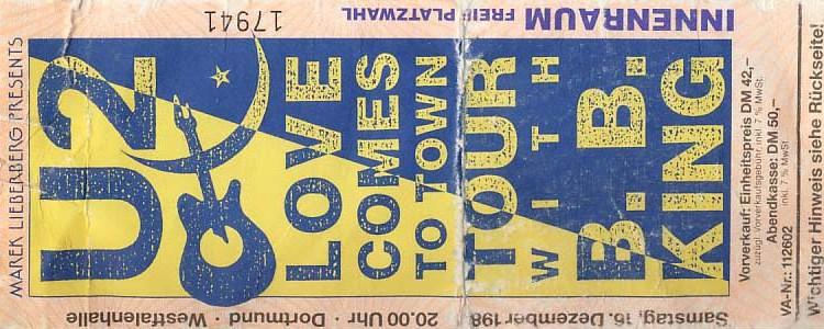 U2 – 16.12.1989 – Dortmund – Westfalenhalle