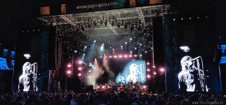 Liam Gallagher und Imelda May bei den Jazz Open 2021 in Stuttgart.